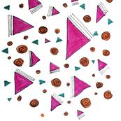 Pop Art Geometric Sketch