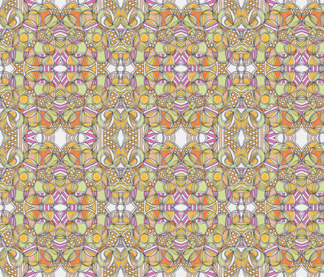 Tangerine Monarchy fabric by unclemamma on Spoonflower - custom fabric