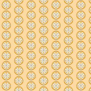 Star Medallion 2- Orange Colorway