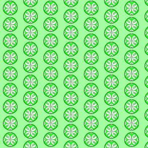 Star Medallion 2- Green Colorway