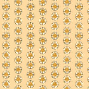 Star Medallion 1- Orange Colorway