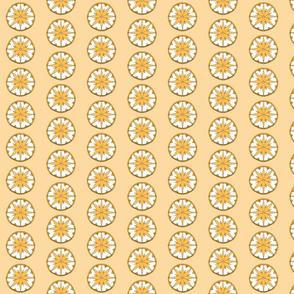 Star Medallion 3- Orange Colorway