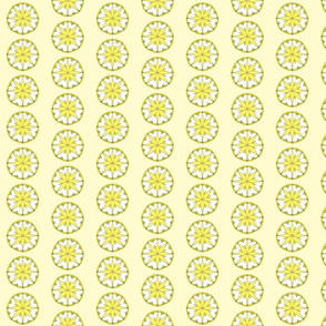 Star Medallion 3- Yellow Colorway