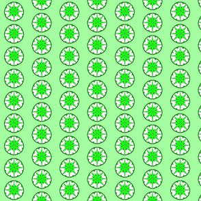 Star Medallion 3- Green Colorway