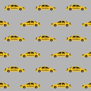 taxi yellow cab new york city tourist travel fabric grey