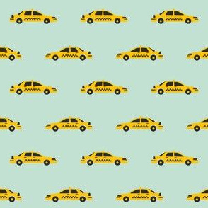 taxi yellow cab new york city tourist travel fabric mint