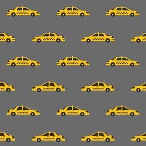 taxi yellow cab new york city tourist travel fabric dark
