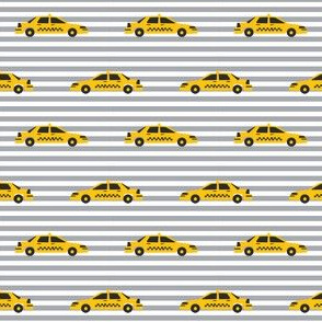 taxi yellow cab new york city tourist travel fabric grey stripe