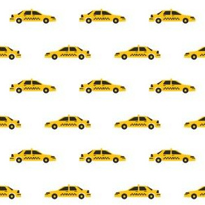 taxi yellow cab new york city tourist travel fabric white