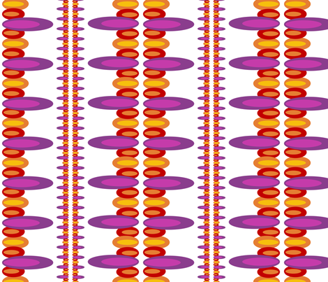 Ellipses purple red orange fabric by dustydiscoball on Spoonflower - custom fabric
