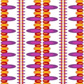 Ellipses purple red orange