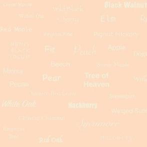 Tree Names (Cream on Peach)