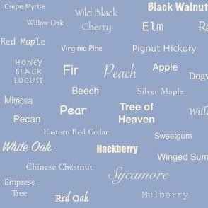 Tree Names (Cream on Slate)