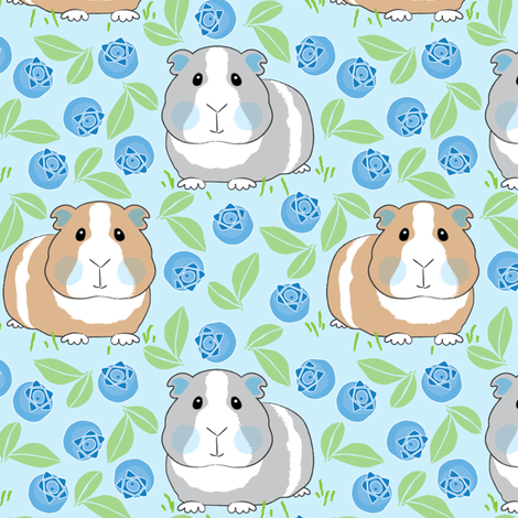 guinea-pigs-with-blueberries fabric by lilcubby on Spoonflower - custom fabric