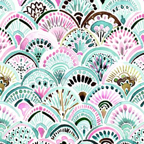 Boho-Mermaid-Medallion-mint fabric by crystal_walen on Spoonflower - custom fabric