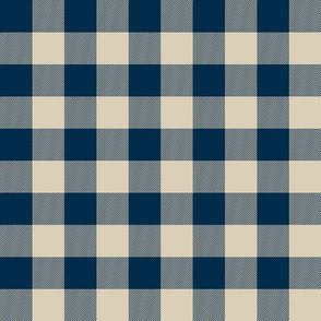 "2"" Buffalo Plaid - Check - blue and tan-ch"