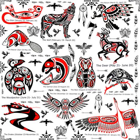 Native American Zodiac Symbols Full On White Wallpaper