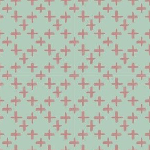 Pink marker cross