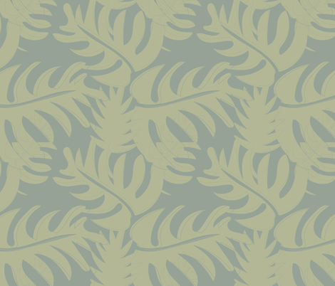 SAGE GREEN, GRAY, LEAF SHAPES fabric by jezlisquaredarts on Spoonflower - custom fabric