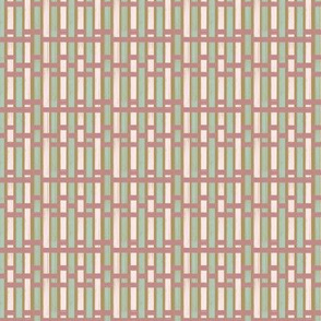 Pink and teal basket weave