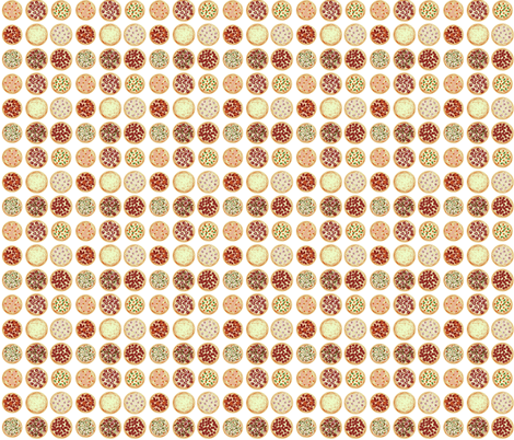 Annie's Pizza Station Collage-tiny fabric by kae50 on Spoonflower - custom fabric