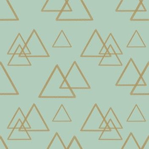 Gold triangles on mint