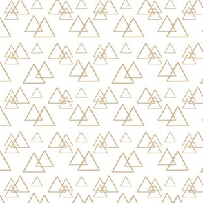 Gold triangles on white (small)