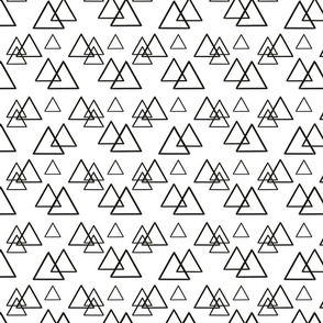 Black and white modern triangles