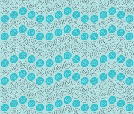 LIGHT BLUE, DARK GRAY, AQUA BLUE TARGET CIRCLES fabric by jezpokili on Spoonflower - custom fabric