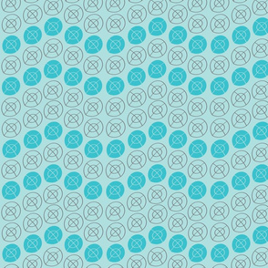LIGHT BLUE, DARK GRAY, AQUA BLUE TARGET CIRCLES