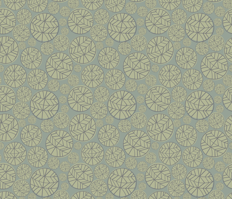 DARK GRAY, SAGE GREEN, LIGHT GRAY CHEVRON CIRCLES fabric by jezpokili on Spoonflower - custom fabric