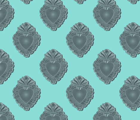 Silver Milagro fabric by jokers_r_wild on Spoonflower - custom fabric