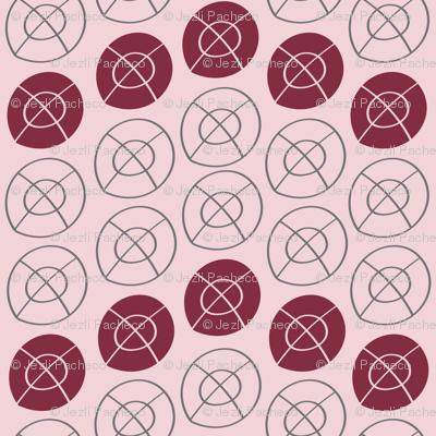 MAROON, GRAY, PINK TARGET CIRCLES