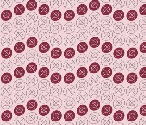 MAROON, GRAY, PINK TARGET CIRCLES fabric by jezpokili on Spoonflower - custom fabric