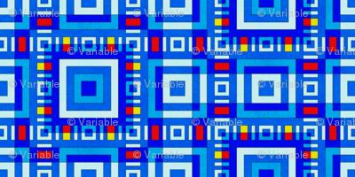 cornflower blue squares