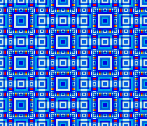 cornflower blue squares fabric by variable on Spoonflower - custom fabric