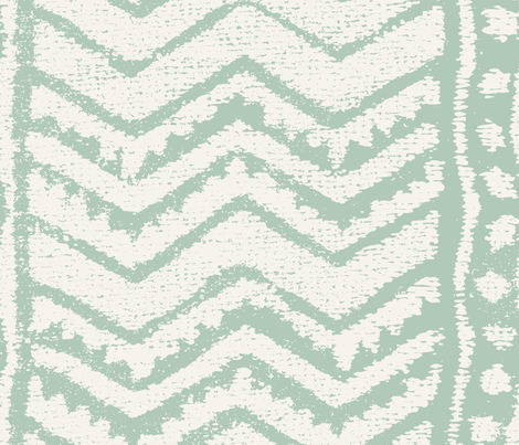 CHEVRON green fabric by chicca_besso on Spoonflower - custom fabric