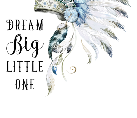 """42""""x54""""/  2 to 3 Yards of 42"""" Wide Fabric /  Little Chief Dream Big fabric by shopcabin on Spoonflower - custom fabric"""
