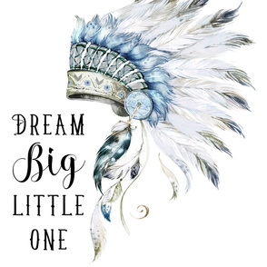 "42""x54""/  2 to 3 Yards of 42"" Wide Fabric /  Little Chief Dream Big"