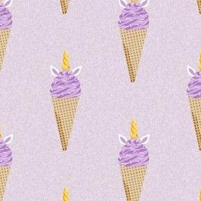 unicorn ice cream stripes food fun fabric lavender