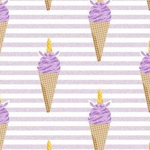 unicorn ice cream stripes food fun fabric purple