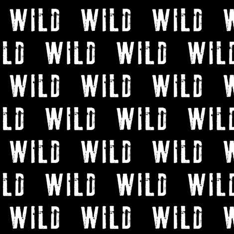 WILD // black (MED scale) C18BS fabric by littlearrowdesign on Spoonflower - custom fabric