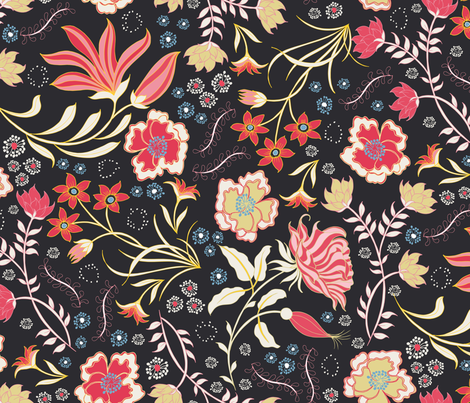 Indian Summer - hand drawn fabric by jill_o_connor on Spoonflower - custom fabric