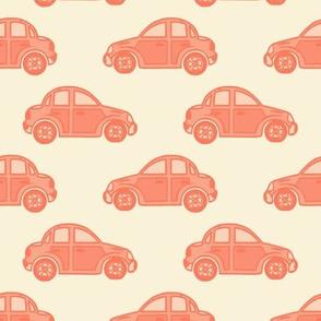 Cars in #fa7a5d