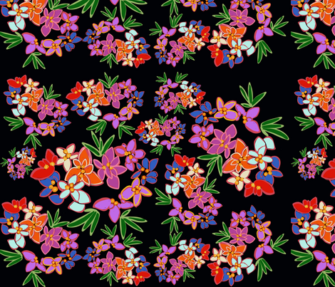 Crazy flowers  fabric by colourfool on Spoonflower - custom fabric