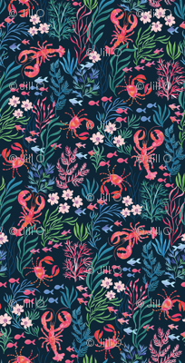 Lobster and Crab Floral
