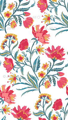 Painted Indian Floral