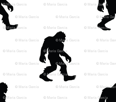 Sasquatch Bigfoot Silhouette Small