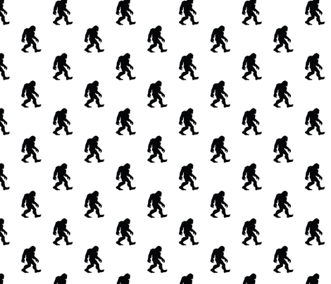 Sasquatch Bigfoot Silhouette Small fabric by mariafaithgarcia on Spoonflower - custom fabric
