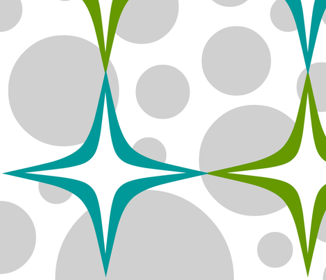 diamond stars quad and grey dots 1 fabric by jimjim421 on Spoonflower - custom fabric